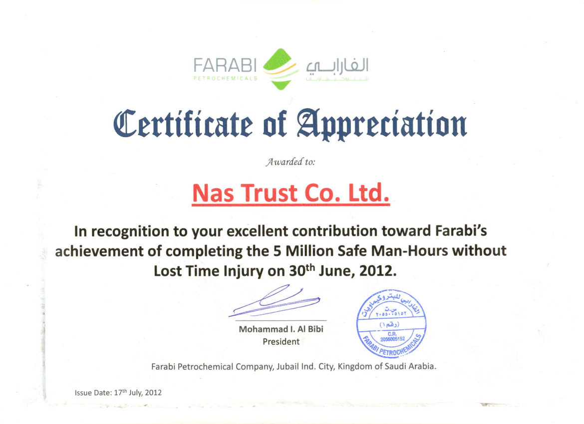 FARABI_Certificate of Appreciation 02